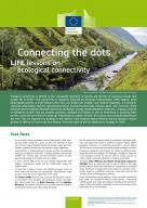 cover factsheet with a river and dots