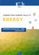 Connecting Europe Facility Energy brochure cover, supported actions from 2041-2020, update May 2021