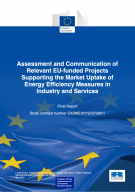 Cover page of the assessment and communication relevant eu funded projects supporting market uptake
